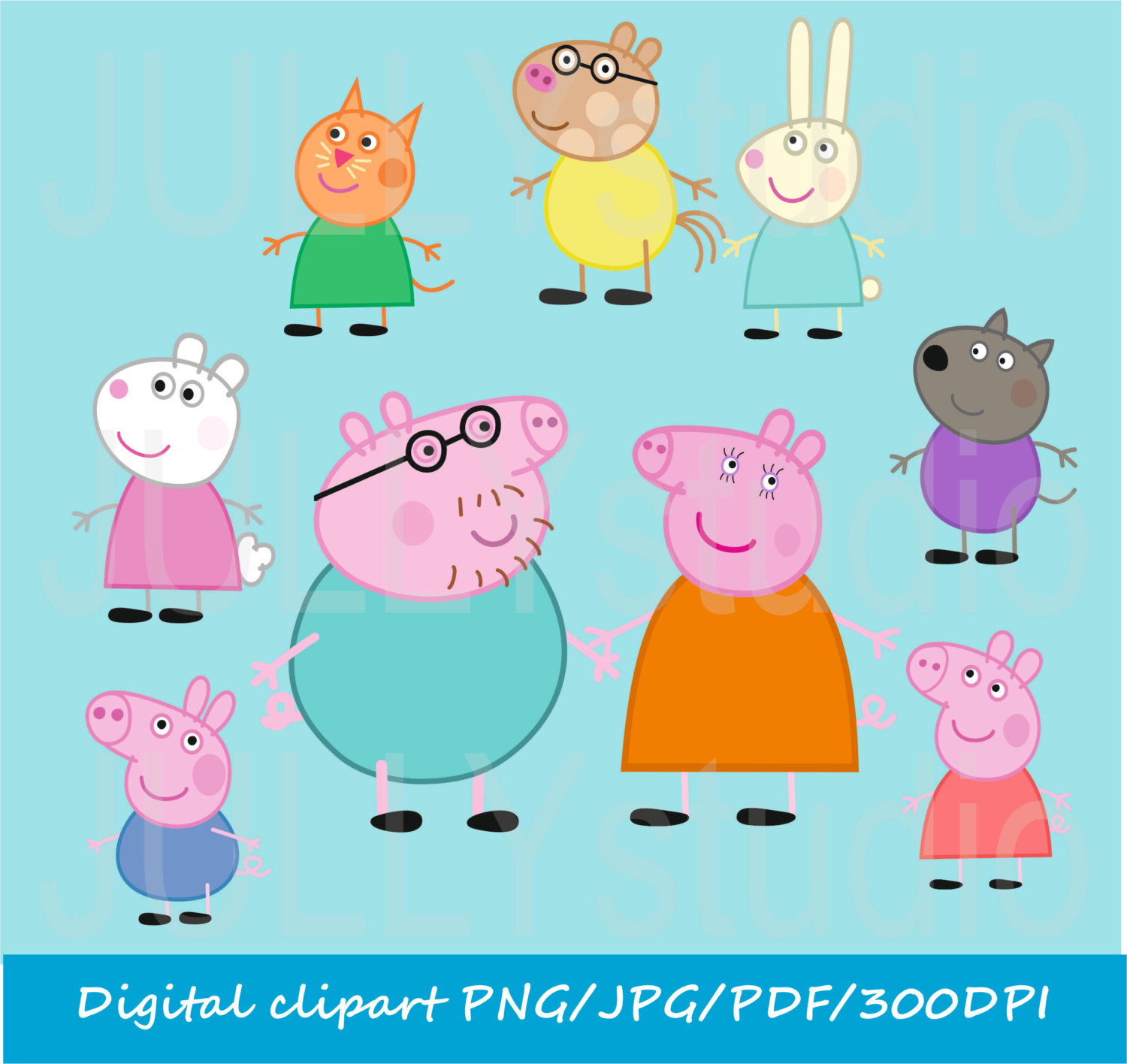 Free Download Eps Files Vecto - Peppa Pig Clip Art