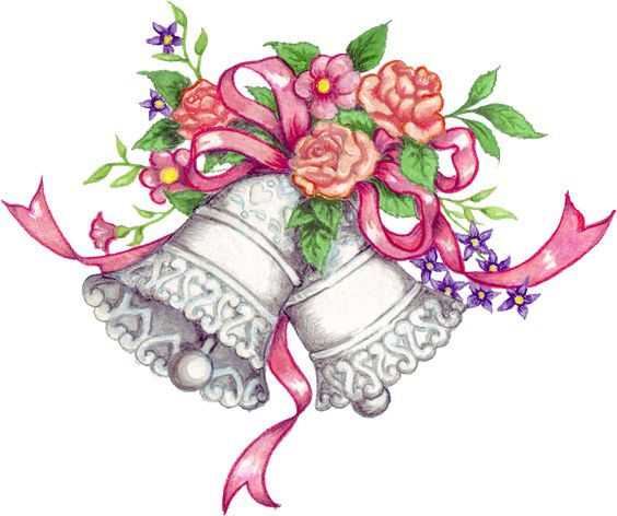 Free Downloadable Wedding Clipart | Free-free downloadable wedding clipart | Free Wedding Bells Graphic - Transparent PNG files and Paint Shop-5