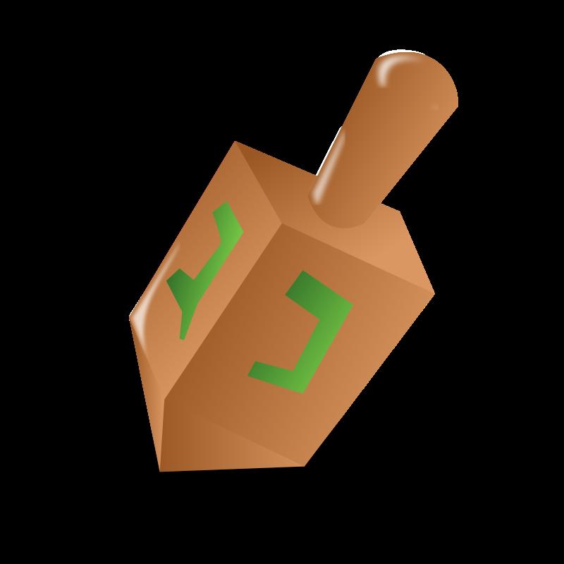 Free Dreidel Clip Art u0026middot; dreidel