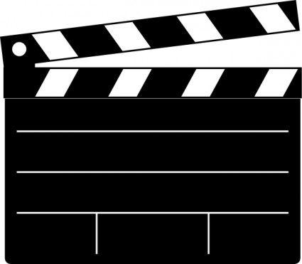 Free Drive In Movie Clip Art | Clapper-b-free drive in movie clip art | Clapper-board clip art Vector clip art --3