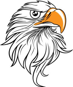 ... Free Eagle Head Clip Art | 123Freevectors; Clip art, Patterns and Leather pattern ...