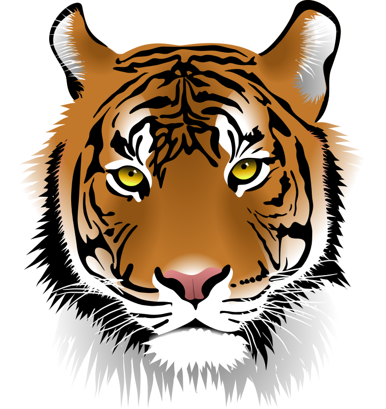 Free Elegant Tiger Face Clip Art