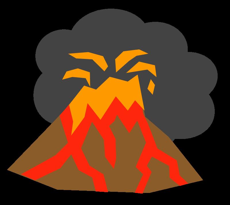 Free Erupting Volcano Clip Ar - Clip Art Volcano