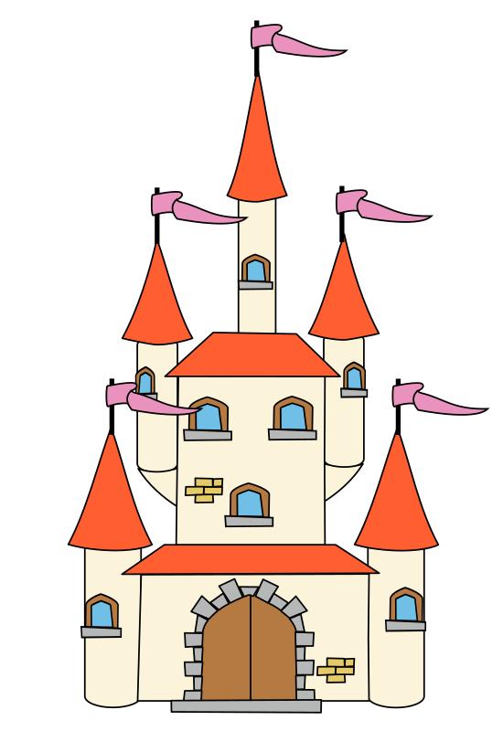 Free Fairy-Tale Castle Clip Art