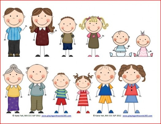 Free Family Members Clipart #1