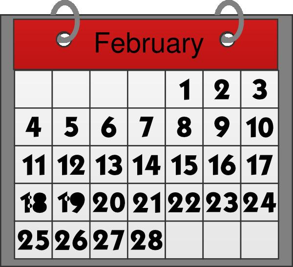 Free February Calendar Clipart .-Free February Calendar Clipart .-14