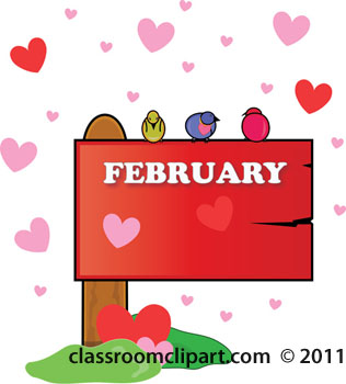 Free february clipart image