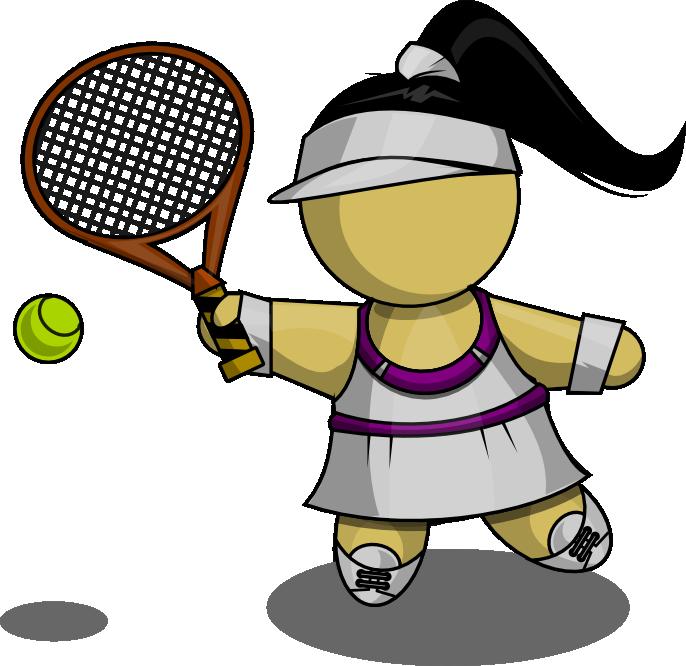 Free Female Tennis Player Clip Art-Free Female Tennis Player Clip Art-3
