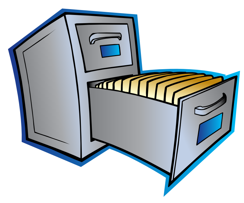 Free Filing Cabinet Clip Art
