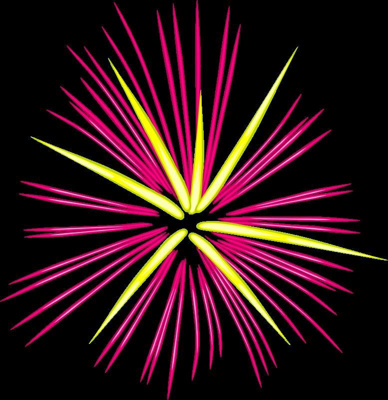 Free Fireworks 2 Clip Art - Clipart Fireworks