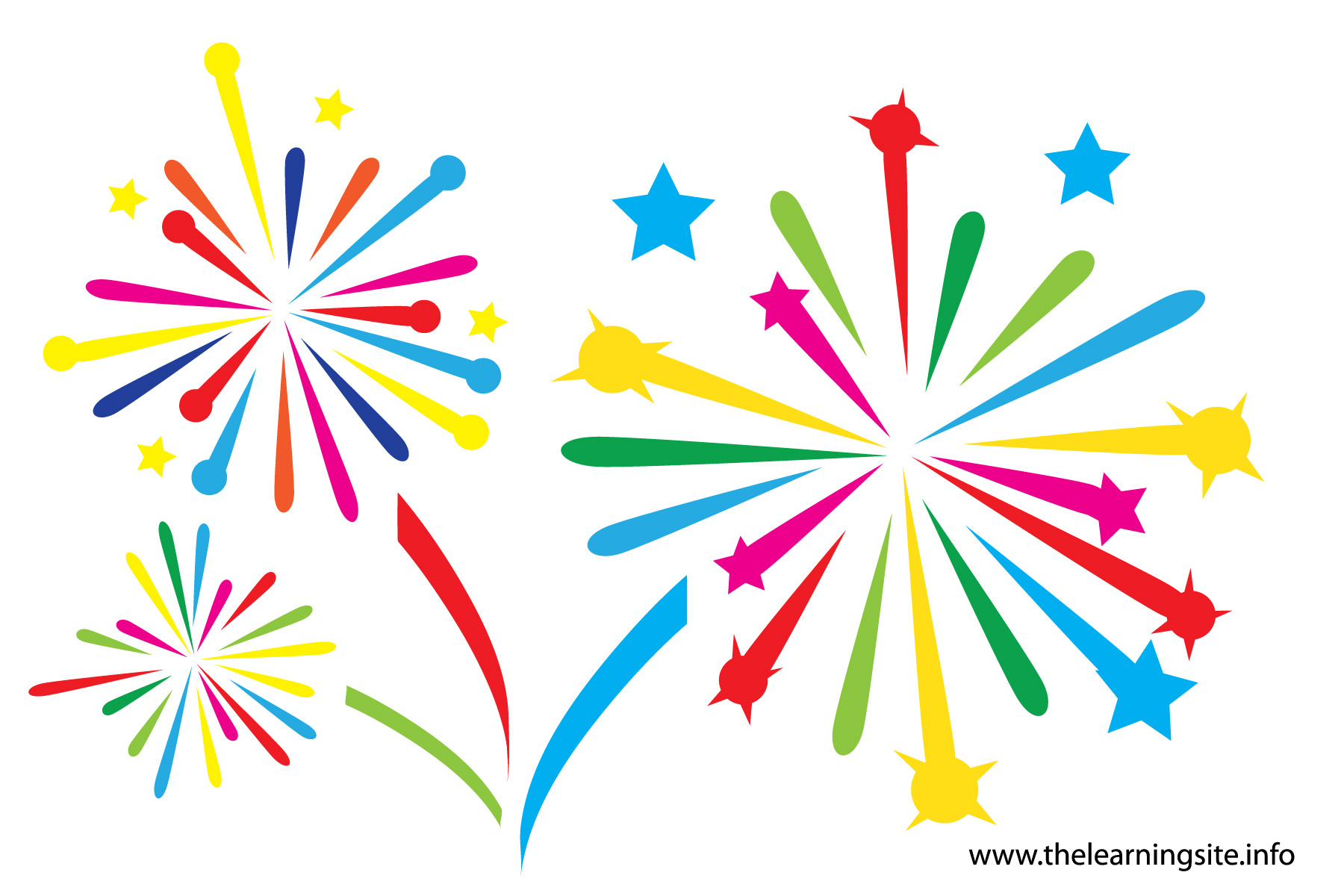 Free fireworks clipart image 0