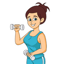 Free Fitness and Exercise Clipart
