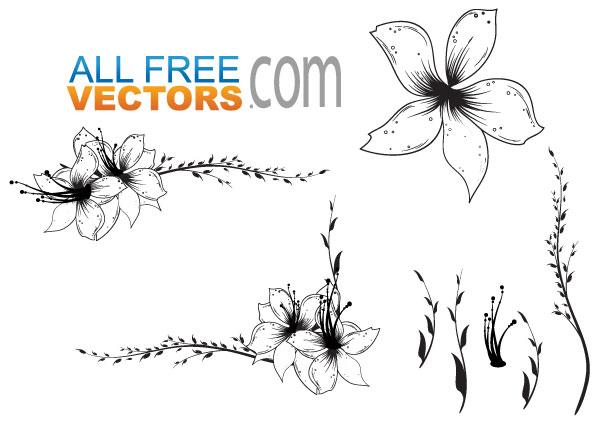 Free Floral Clip Art Vector-Free Floral Clip Art Vector-9