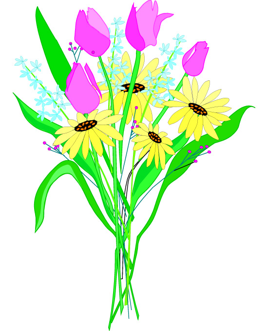 Free Flower Bouquet Clip Art Clipart Best