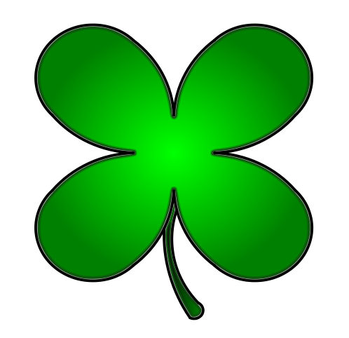 Free Four Leaf Clover Clip Art-Free Four Leaf Clover Clip Art-11