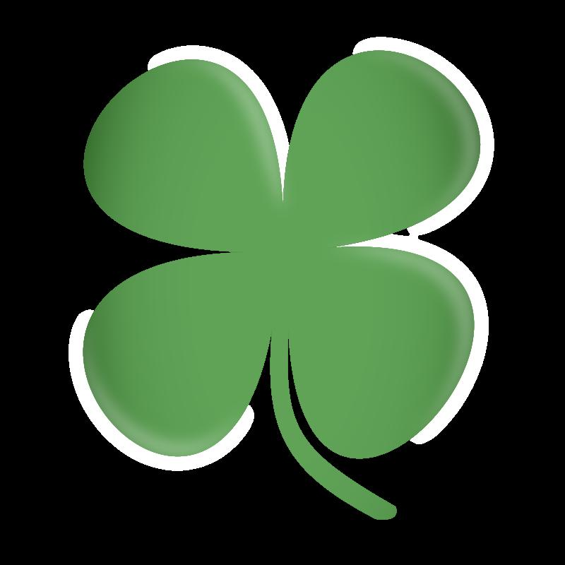Free Four Leaf Clover Clip Art · clover-Free Four Leaf Clover Clip Art · clover4-17