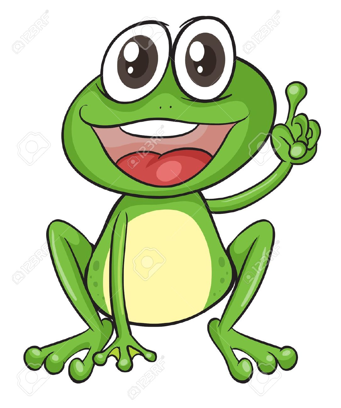 Free frog clip art drawings .