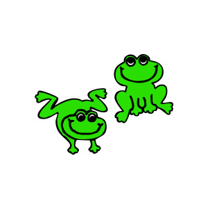 Free frog clipart graphics.
