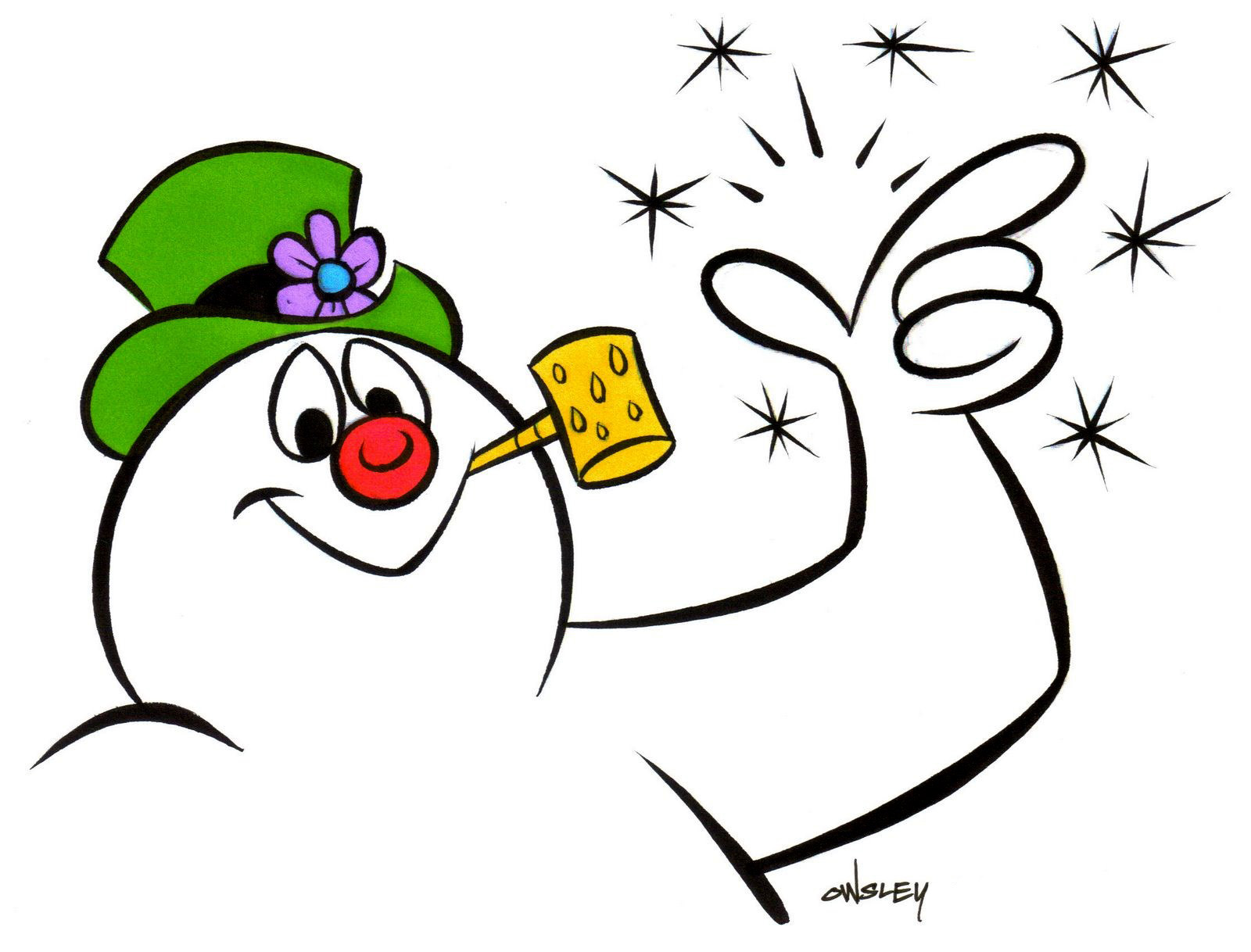 free frosty snowman clipart