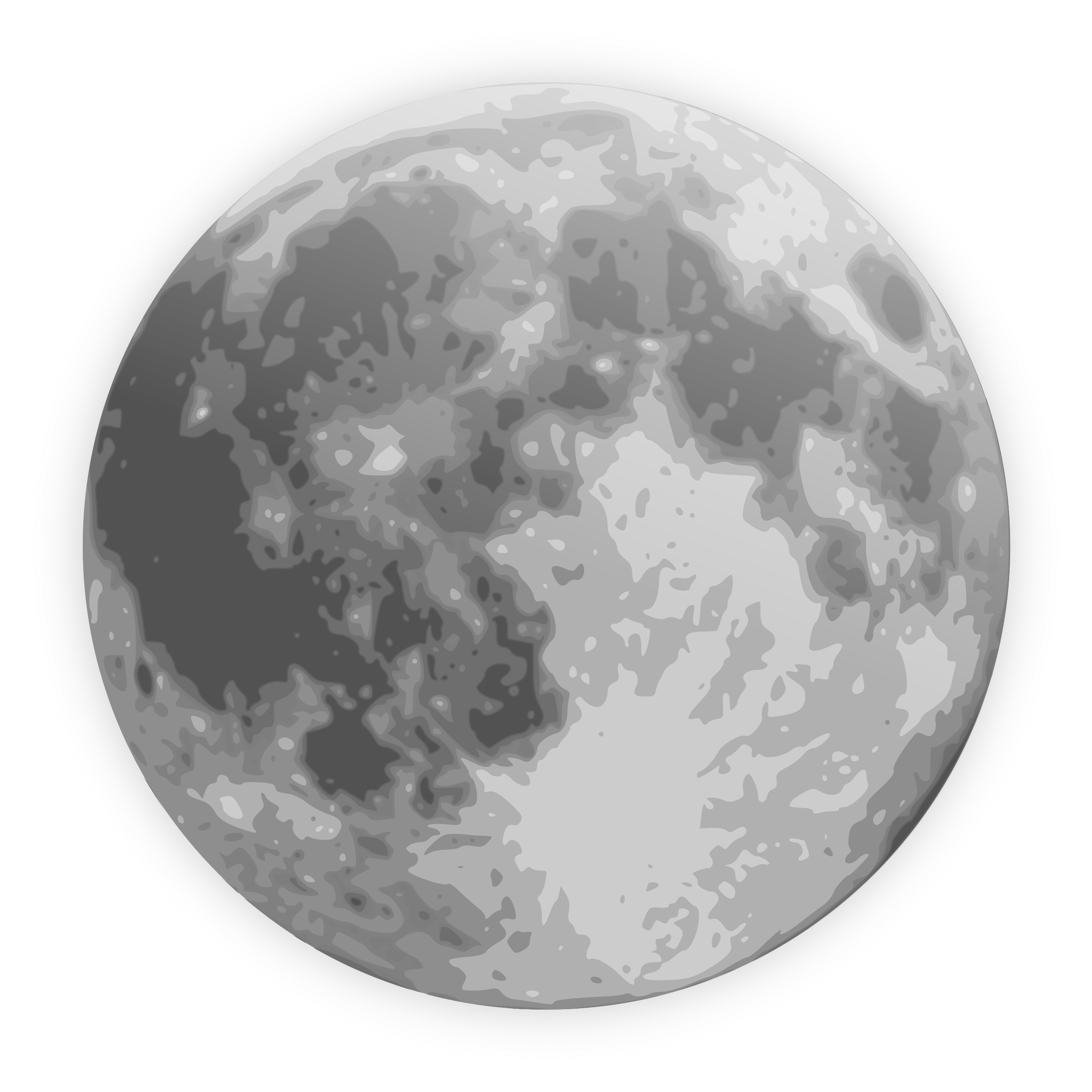 Free Full Moon Clip Art. BIG IMAGE (PNG)