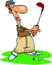 Free Funny Golf Clipart Hilarious Looking Golfer Stands On The Green