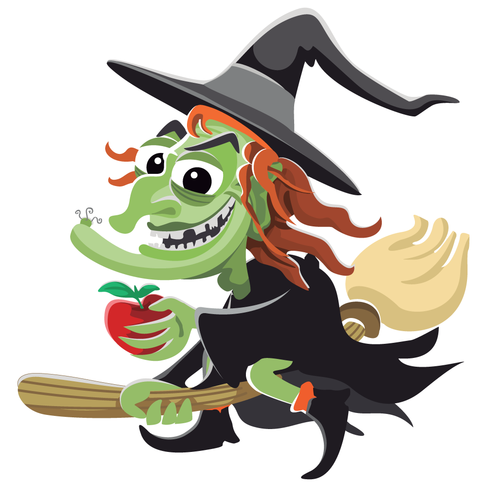 Free Funny Looking Witch Clip Art