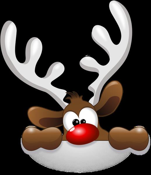 Free Funny Reindeer Clip Art