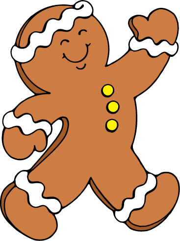 Free gingerbread man clip art 2