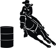 Free Girl Barrel Racing Silhouette - Goo-free girl barrel racing silhouette - Google Search-13