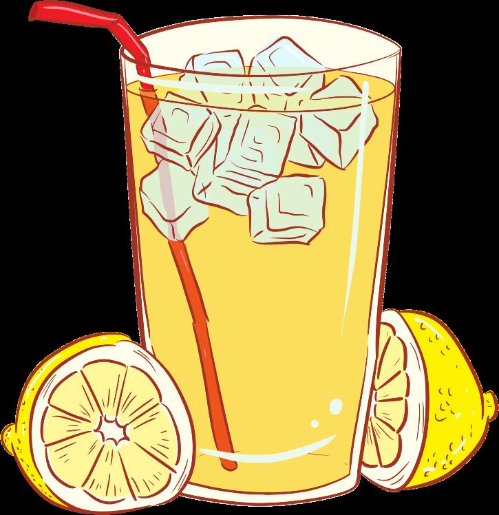 Free Glass of Lemonade Clip Art