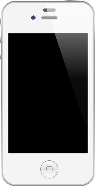 Free Glossy White Smartphone Clip Art