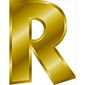 Free gold-letter-R Clipart .