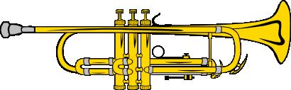 Free Gold Trumpet Clip Art