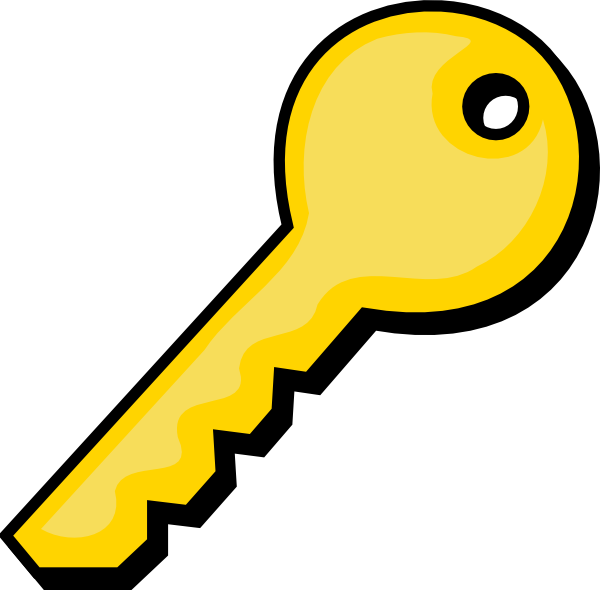 Free Golden Key Clip Art