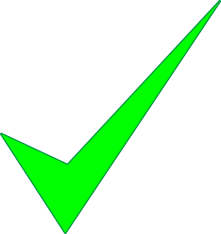 Free Green Check Mark Clip Art