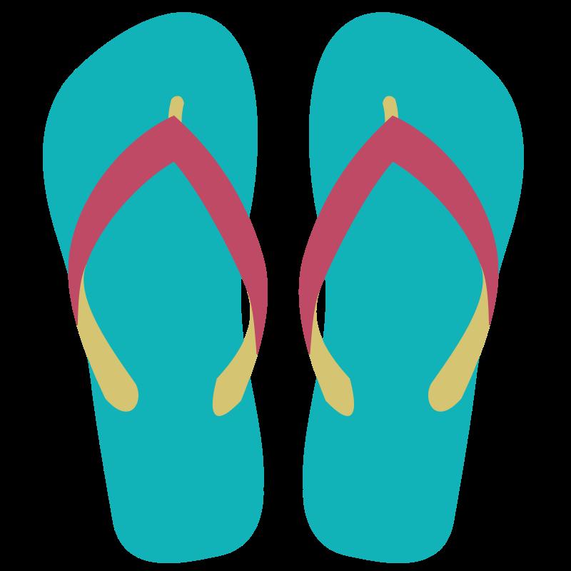 Free Green Flip Flops Clip Art