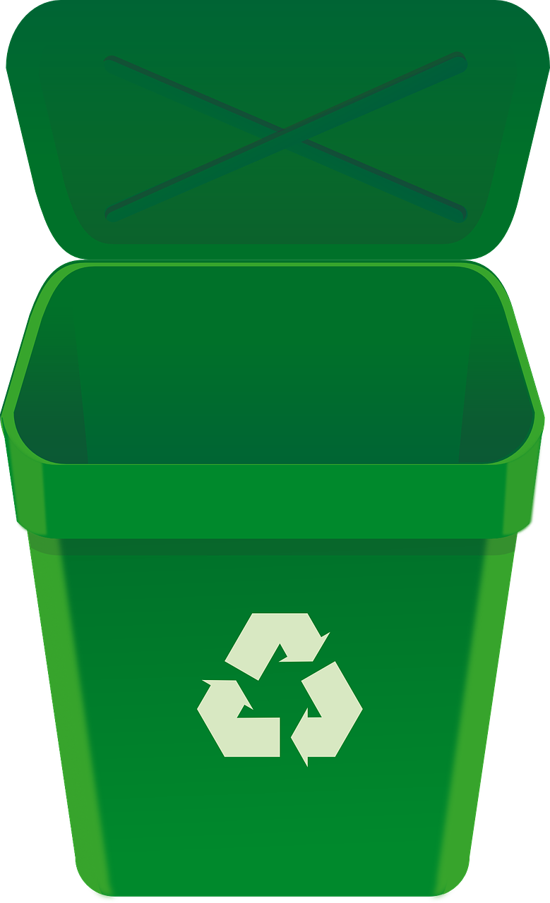Free Green Recycle Bin Clip A - Recycling Bin Clipart