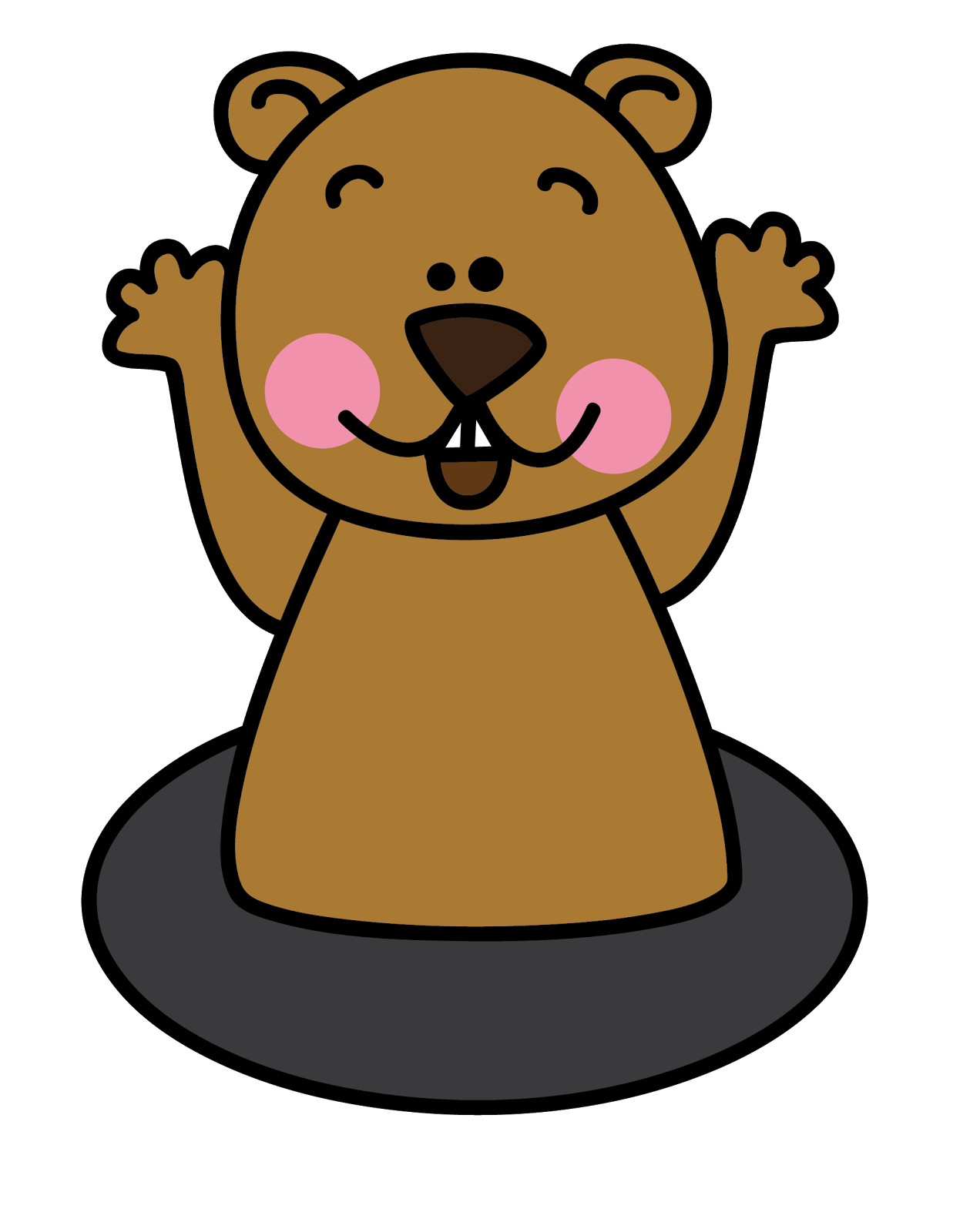 Free Groundhog Clipart-Free Groundhog Clipart-4