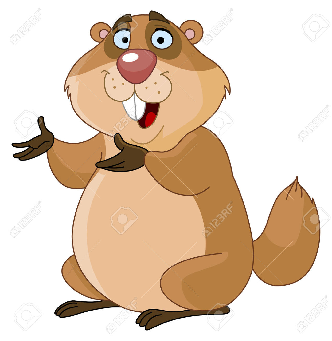 Free Groundhog Clipart. Groundhog Stock Vector - .