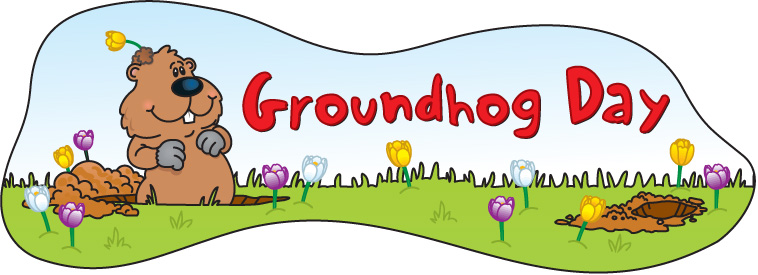 Free groundhog day clipart