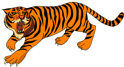 Free Growling Tiger Clip Art