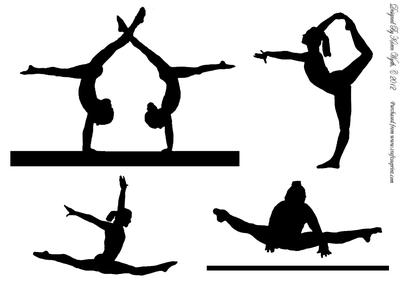 Free Gymnastics Clipart Silho