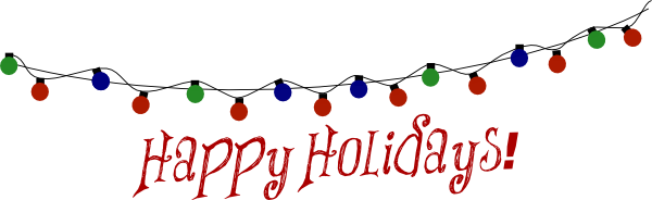 Free happy holidays clipart .