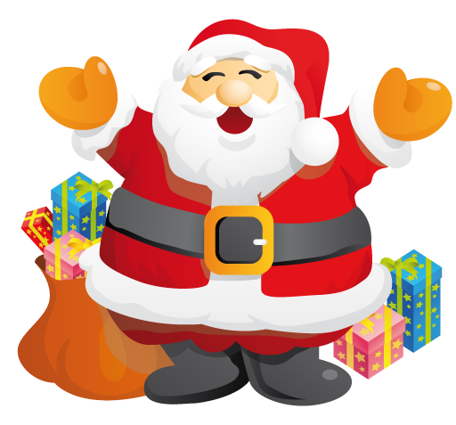 Free Happy Santa Claus Clip Art