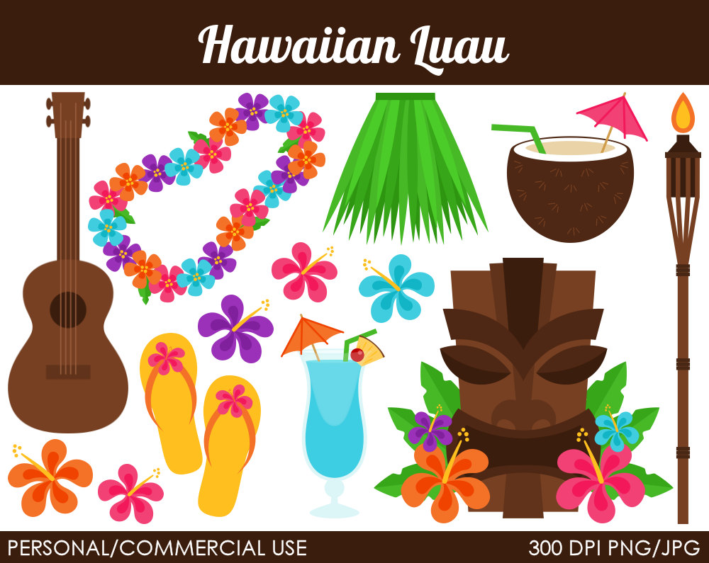 Free Hawaiian Clip Art Images. Popular items for luau clipart