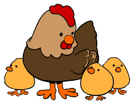 Free Hen With Chicks Clip Art