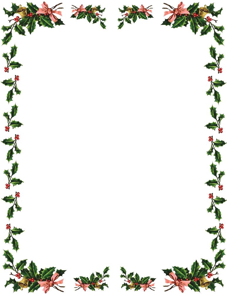 Free Holiday Border Clipart