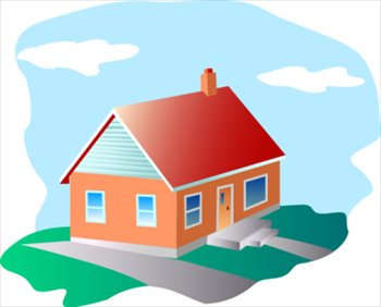Free homes clipart graphics images and photos