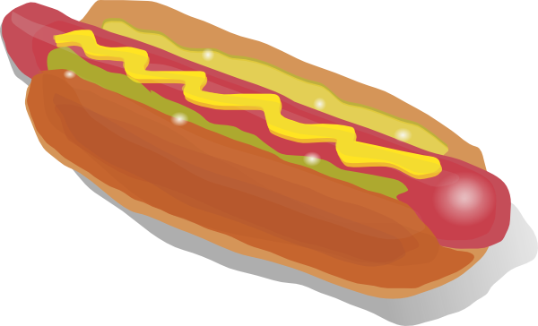 Free Hot Dog Sandwich Clip Art
