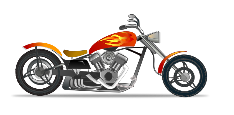 Free Hot Motorcycle Clip Art